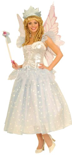 [Forum Fairy Tales Fashions Tooth Fairy Costume, White, Standard (For Adults One size fits up to size] (White Fairy Costumes)