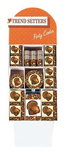 Autumn Turkey Thanksgiving All in One Party Tableware Value Deal Pack, Paper, Set of 1500 by Amscan
