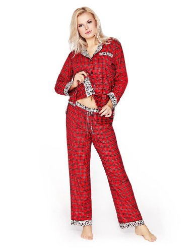 Mio Lounge Highland Dream Flannel Red Tartan Pyjamas MDHD1301PJ