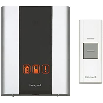 Honeywell RCWL300A1006 Premium Portable Wireless Doorbell / Door Chime and Push Button