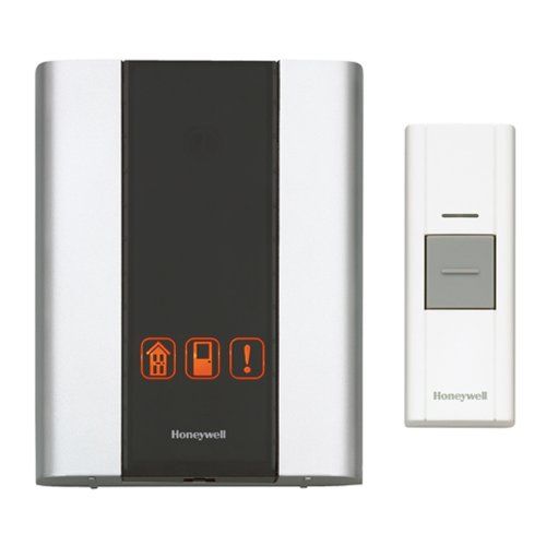 Door Entry Intercom - Honeywell RCWL300A1006 Premium Portable Wireless Doorbell / Door Chime and Push Button