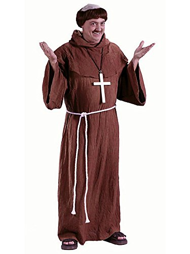 Fun World Costumes Men's Medieval Monk Costume, Brown, One Size Fits Up To 6ft. 200 lbs]()