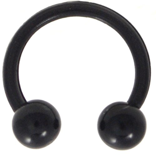 Circular Barbell Black Body Jewelry - 4