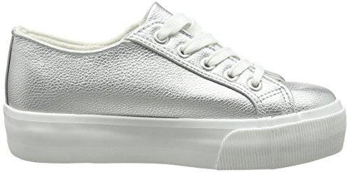New Look 5099883, Zapatillas Altos Mujer Plateado (Silver)