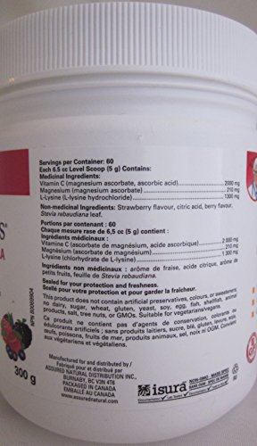 Medi C Plus Lysine Berry Flavour (300G) medi c plus Brand: Preferred Nutrition