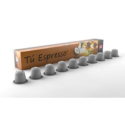 CABU COFFEE (Nespresso Original line compatible) - Arabica & COCONUT - 40 count / capsules by Unknown
