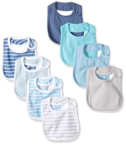 Hanes Ultimate Baby Flexy 8 Pack Bibs, Blues, NO SIZE