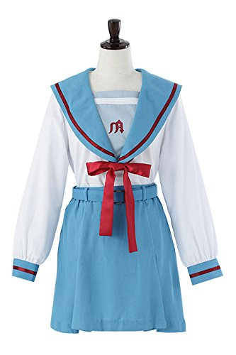 Melancholy Prefectural North High School Uniform Cosplay Costume Haruhi Suzumiya (women winter clothes) size-L by ACOS
