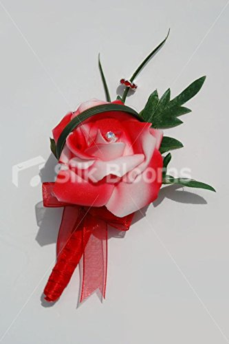 5ca73434 Red White Rose St George's Cross English Wedding Buttonhole: Amazon.co.uk:  Kitchen & Home