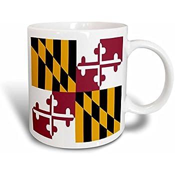 3dRose 193242/_4 Maryland Crab Flag Two Tone Mug 11 oz Black mug/_193242/_4