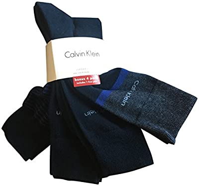 Calvin Klein Men's Dress Socks 4 Pack Grey Navy