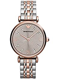 AR1840 Ladies Gianni T-Bar Steel and Rose Gold Watch