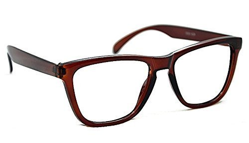 6bf4640985 9130 Geek Nerd Retro Fashion Large Framed Reading Glasses+1.0+1.5+2.0+2.5  Available In 4 Colours (Brown