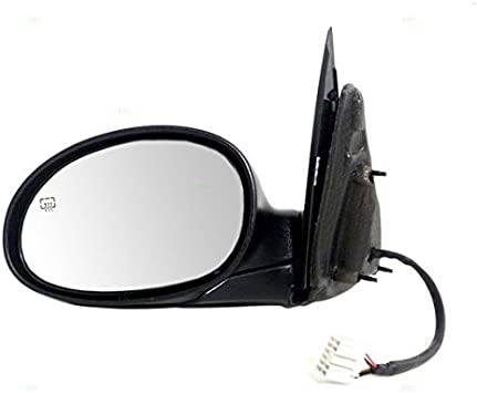 Passengers Power Side View Mirror Heated Textured Replacement for Dodge 5076502AC