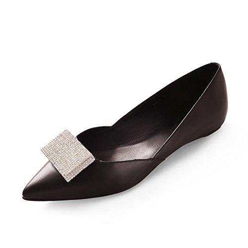 Zapatos de moda/Con luz plana puntiagudos zapatos/ de la manera diamante zapatos de primavera B