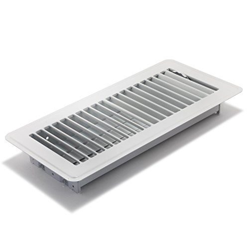 or Register with Louvered Design, 4-Inch x 10-Inch(Duct Opening Measurements), White ()