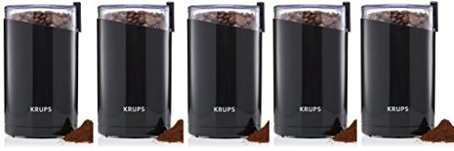 KRUPS F203 Electric Spice and Coffee DYrqHd Grinder with Stainless Steel Blades, 3-Ounce, Black, Blade Grinder (Pack of 5)