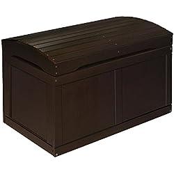 Badger Baskets 01345 Hardwood Barrel Top Toy Chest,Espresso