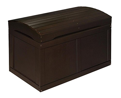 Badger Baskets 01345 Hardwood Barrel Top Toy Chest,Espresso