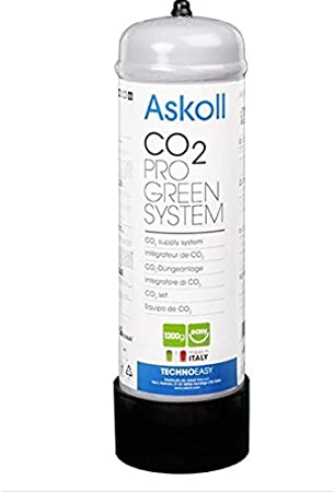 Askoll - Bombona de CO2 no recargable, de 1200 g, Pro Green System
