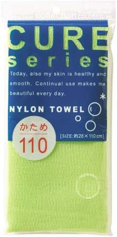 110cm Hard Weave Cure Series Japanese Exfoliating Bath Towel from OHE Green