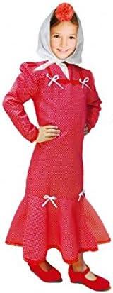 Disfraz Chulapa niña Rojo Lunar Blanco (2 años): Amazon.es ...