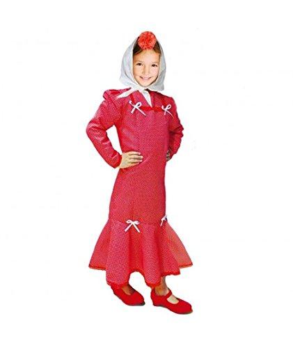 Disfraz Chulapa niña Rojo Lunar Blanco (6 años): Amazon.es ...