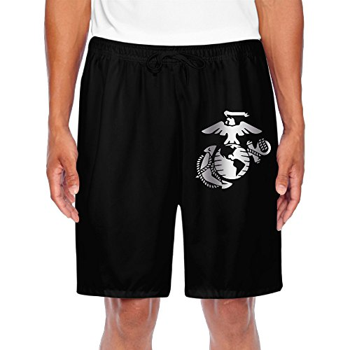 Men's United States Marine Corps Platinum Logo Shorts Sweatpants