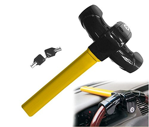 Yusylvia 1 PCS Universal Anti-Theft Car Van Security Rotary Steering Wheel Lock Fits Al Car