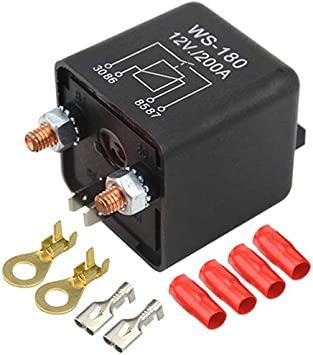 Car Truck Motor Continuous Type Automotive Switch Boat Marine Heavy Duty Split Charge ON//OFF Switch Relays Car Auto Boat 200Amp 12v 200a Power Car Relay