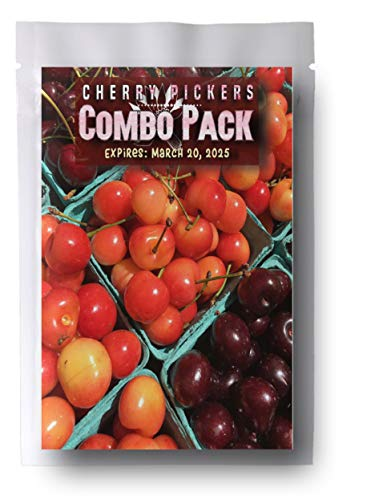 Cherry Pickers Fruit Combo Pack Pear, BlackBerry, Cherry 235+ Seeds & 3 Free Plant Markers ()