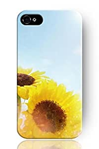 SPRAWL New Fashion Design Hard Skin Case Cover Shell for Mobile Phone Apple Iphone 4 4S 4G--hazy sunflower background