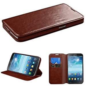 SAM-i527 (Galaxy Mega) Brown MyJacket Wallet(with Tray)(562) (with Package)