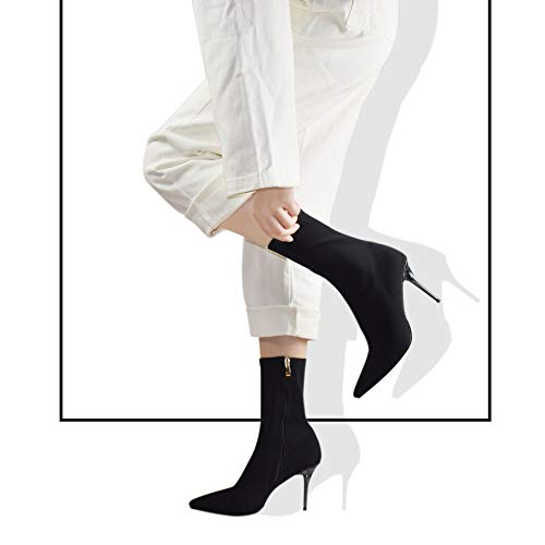 vivianly Knee High Block Heel Boots Square Toe Boot for Women
