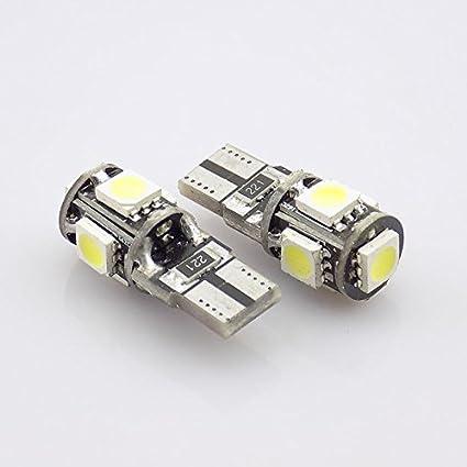 Unipower TMT LEDS(TM) 5 X BOMBILLAS LED CANBUS T10 W5W 5 LEDS SMD
