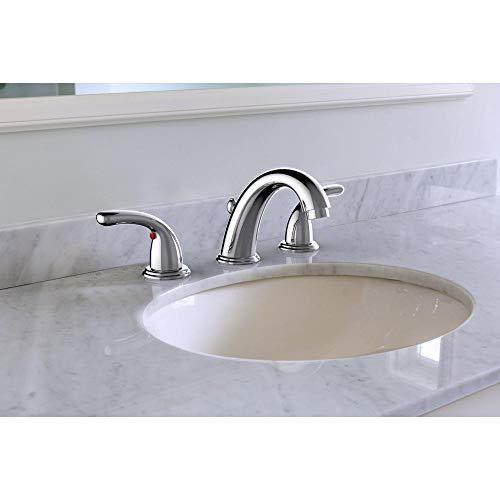 - Glacier Bay Builders 8 in. Widespread 2-Handle High-Arc Bathroom Faucet in Chrome 67364W-6A01