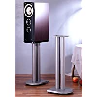 VTI UF Series Speaker Stands Pair in Grey Silver - 24 Height
