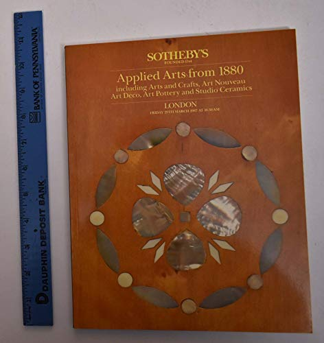Applied Arts Including Arts and Crafts, Art Nouveau, Art Deco, Art Pottery and Studio Ceramics - 1987