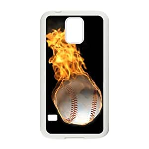 New Fashion Hard Back Cover Case for SamSung Galaxy S5 I9600 with New Printed fire baseball