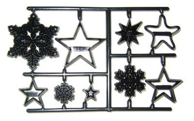 Patchwork Cutters SNOWFLAKES & STARS Sugarcraft Cake Decorating