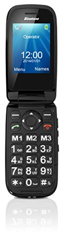 Binatone M405 Big Button Clamshell GSM Phone - Black