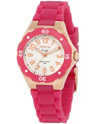 Invicta Womens 1624 Angel White Dial Plum Silicone Watch