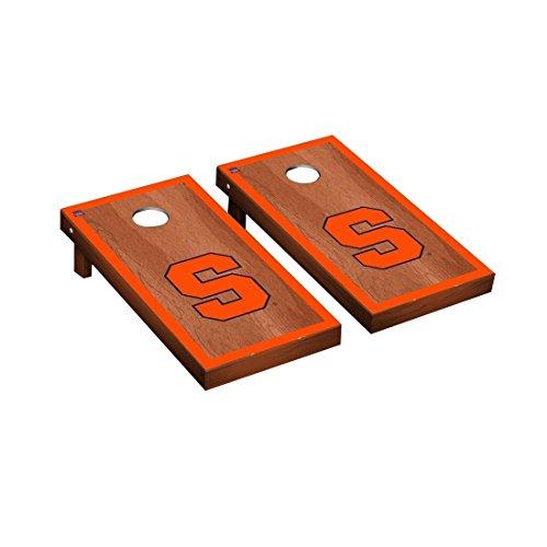 Victory Tailgate Syracuse Orange Regulation Cornhole Game Set Rosewood Stained Border Version