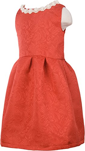 Ipuang Little Girls' Lovely Pattern Dresses for Special Occasions 4t Red