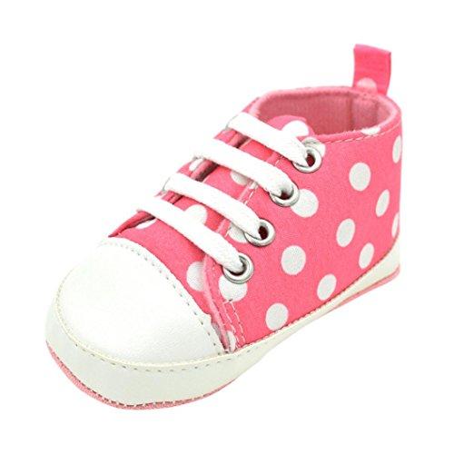 Hunpta Kleinkind Baby Schuhe Säugling Sneaker Anti-Rutsch Soft Sole Kleinkind Segeltuch Schuhe Rosa