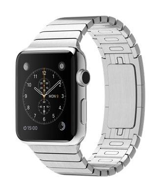 Apple Watch 42mm Stainless Steel Case (White Link Bracelet)