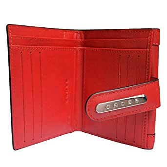 Cross Red Leather For Women - Bifold Wallets