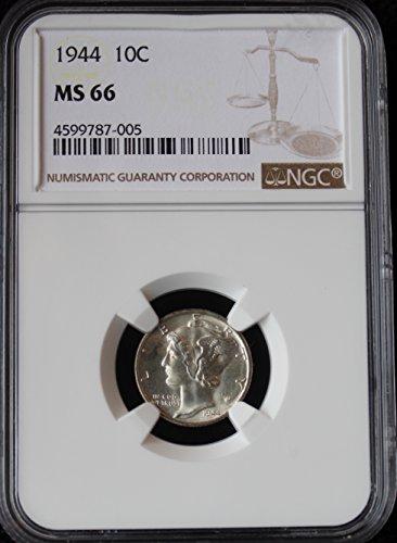 1944 Mercury Dime 10c MS-66 NGC - Ngc Dimes