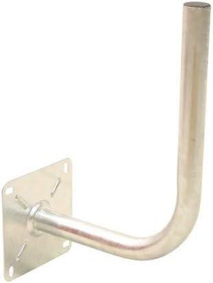 HDSAT Bras COUDE D/éport 30cm Diam/ètre 40mm Fixation Parabole Support Mural Acier Galva