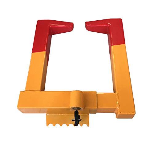 Auto Wheel Lock, Claw Style Heavy Duty Anti-Theft Car Wheel Lock Clamp Security Lock for Car Caravan Trailer SUV